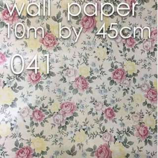 Floral Flowers Wallpaper Self Adhesive C041