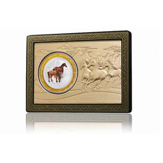BNIB 2014 Perth Mint Year of the Horse 1oz Colored Lunar Silver Coin Set
