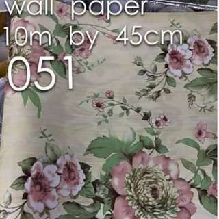Floral Flowers Wallpaper Self Adhesive C051
