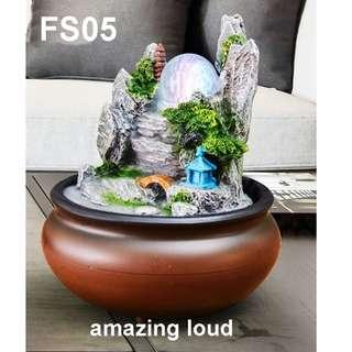 Water Fountain Feng Shui Home Deco Pasu Air Table Top