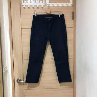 🚚 (男)二手uniqlo 深藍色九分休閒褲