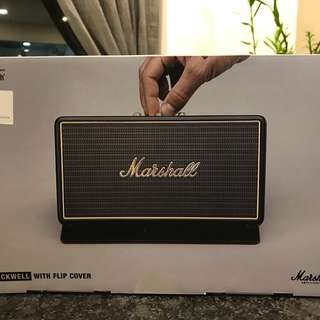 Marshall Stockwell Bluetooth portable speakers with flip cover