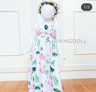 Living doll flamingo dress
