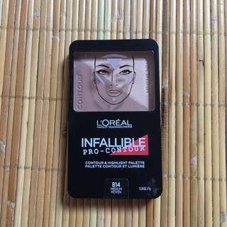 L'Oreal paris Infallible Pro Contour Powder - Medium Moyen 814 (NEW)