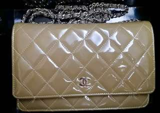 Rare Chanel Bag WOC wallet on chain ( Milk Tea Color)