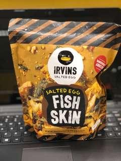 Irvins 鹹蛋魚皮 105g