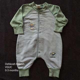 0-3M Oshkosh B'Gosh Overall/Sleepsuit