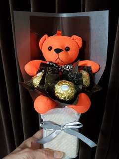 Ferraro Rocher Chocolate & Bear Bouquet