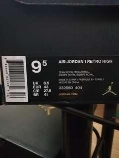 Air Jordans Retros 1's and 7's RUSH