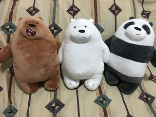 Standing and sitting we bare bear plushies