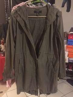 F21 Green Parka Jacket/Coat