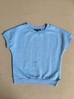 Kamiseta Blue Short Sleeved Knit Top