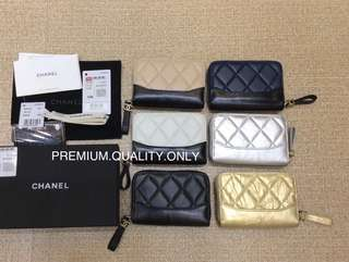 Chanel Gabrielle Zipper Card Case