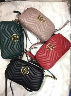 GUCCI MARMONT MINI QUILTED CROSS-BODY SLING BAG