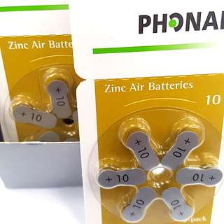 $45 ~ 1 Box Size 10 Batteries (for Hearing Aids)