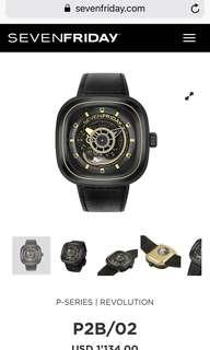 全新正品Sevenfriday 手錶 有單 有盒 全套