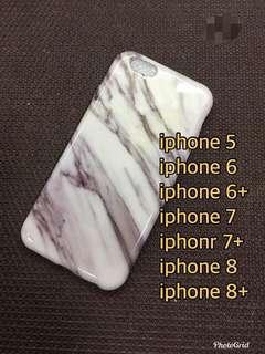 Glossy marble soft case (b&w)