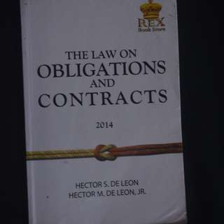 The Law on Obligations and Contracts Business Administration College Textbook