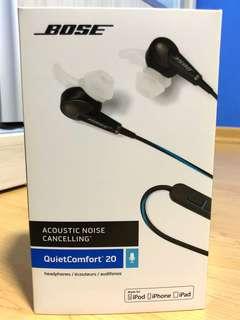 Bose Acoustic Noise Cancelling QuietComfort QC20 earphones