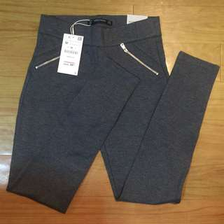 Zara Mid Rise Gray Leggings