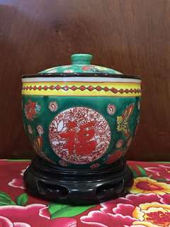 Chinese Porcelain Container With Lid