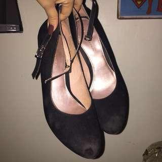 Gibi suede wedge heels