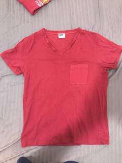 Pherrow's v neck red tee japan vintage pherrow mccoy