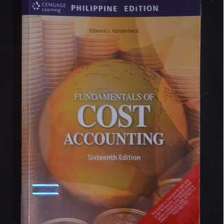Fundamentals of Cost Accounting Business Administration College textbook