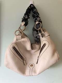 Lancel Paris Off White Leather Bag
