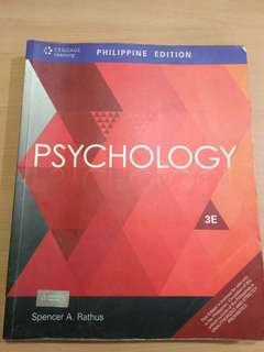 PSYCHOLOGY 3RD EDITION BY SPENCER Rathus
