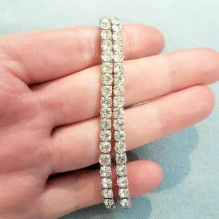 Stretch Rhinestone Tennis Bracelets