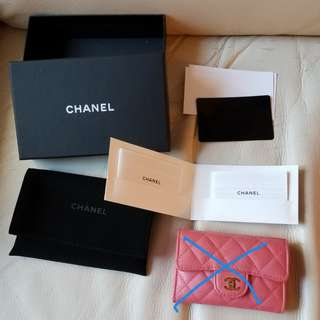 Chanel Card Holder 的配件全套 紙盒 塵袋 保養說明 間隔卡紙