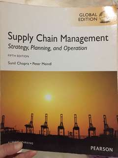 Supply Chain Management Fifth Edition