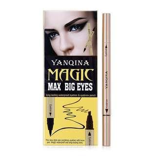 2 in 1 - Eyebrow Pencil and Waterproof Eyeliner