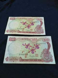 2pc of sg $10 old notes  2 x $28=$56