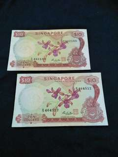 2pc of sg $10 old notes2 x $30=60