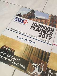 ATC Tort Law Revision Planner 2017
