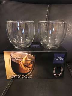 Hot & cold glasses (Brand new unwanted gift)