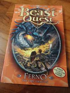 Beast Quest Ferno The Fire Dragon VERY RARE Top Copy From Collection