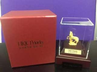 割價!HKJC Jockey Club 賽馬會 鎮金店駿馬黃金擺件