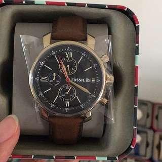 Fossil Rhett Chronograph Brown Leather Watch