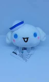 "Brand New 3.5"" Sanrio Cinnamoroll Baby Cinnamon Sailor Puppy Dog Tsum Tsum Figurine Plush Stuffed Soft Toy Keychain Bag Charm"