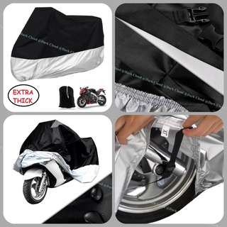 [DARK CLOUD - EXTRA THICK MOTOR COVER] (210 EXTRA THICK + BELT LOCK) MOTORCYCLE/MOTOR COVER ✔️HIGH QUALITY ▶️EXTRA THICK CARRY BAG ✔️WATERPROOF ▶️UV ✔️ANTI-DUST ▶️ANTI-SCRATCH