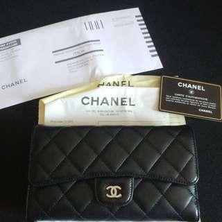 Chanel Wallet 羊仔皮長銀包(只售、不接受交換)
