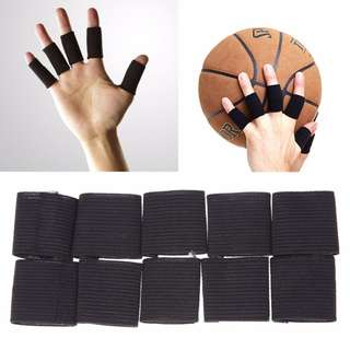 10pcs Sports Elastic Fingers Sleeve Support Guard Bandage Wrap Protector Set