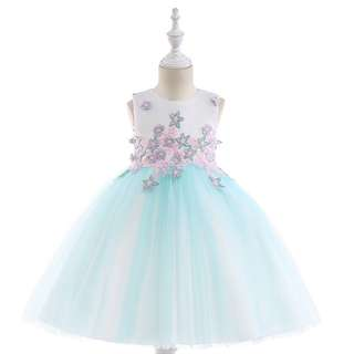 PO1022 Wedding Party Ball Gown Flower Girl Dress Pageant (3-8yrs)