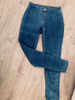 🚚 H&m High waisted denim Jeans