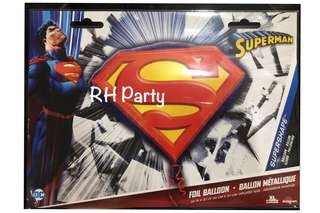 (13/6) Include helium superman logo superheroes DC happy birthday foil balloon