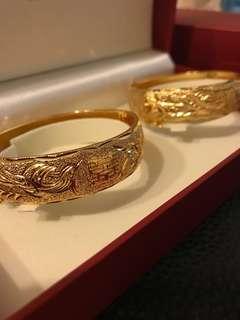 Gold plated 仿金龍鳳觸(囍字幼款)