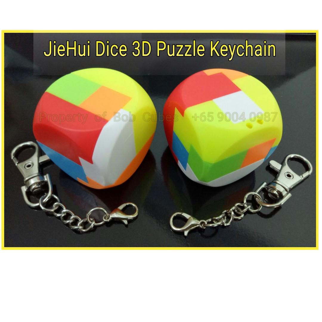 JieHui Lefun Dice 3D Puzzle Keychain for sale Singapore